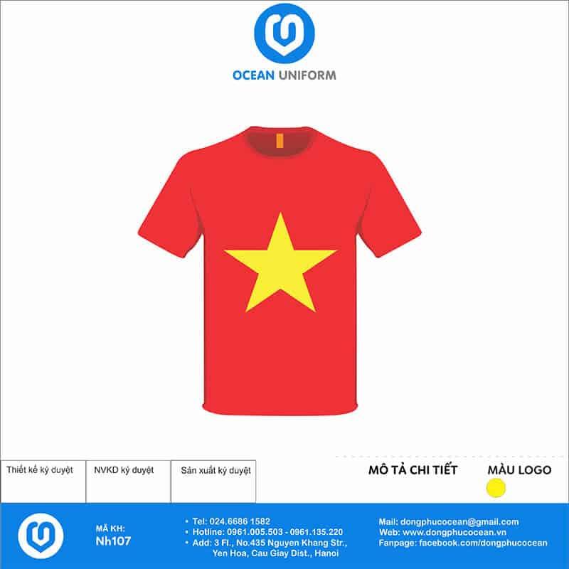 Áo cờ đỏ sao vàng NH107