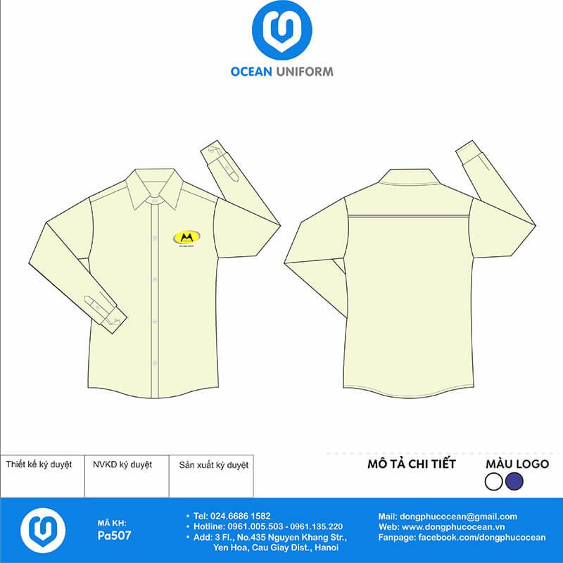 Áo đồng phục sơ mi PA507