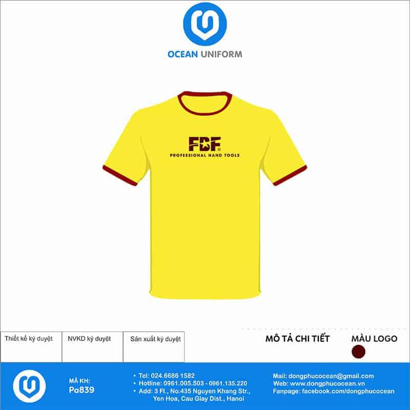 Áo thun đồng phục công ty FBF