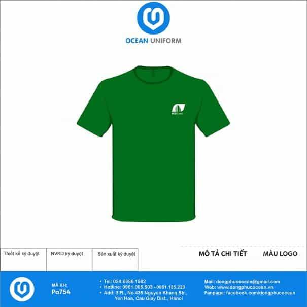 Áo phông đồng phục bất động sản PA754