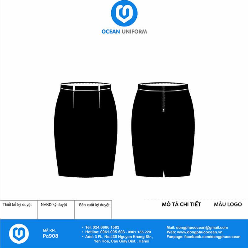 Chân váy đồng phục lễ tân Công ty TNHH Avy Interior