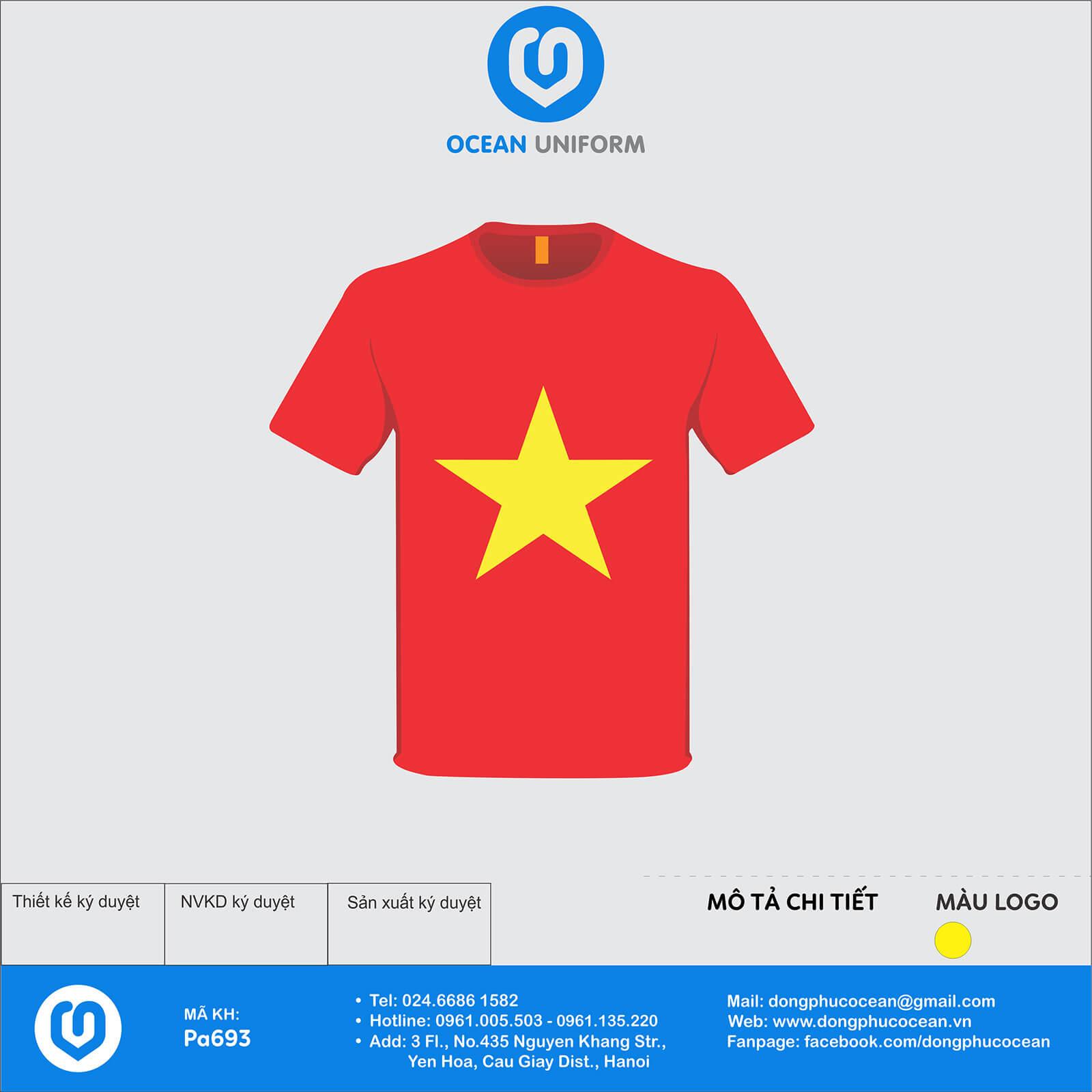Áo cờ đỏ sao vàng CLB Châu Anh 25