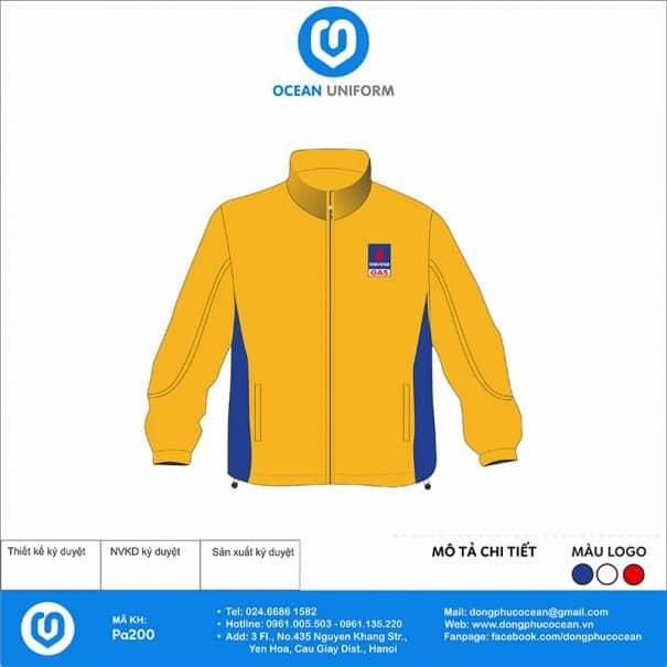 Đồng phục áo gió 2 lớp PA200