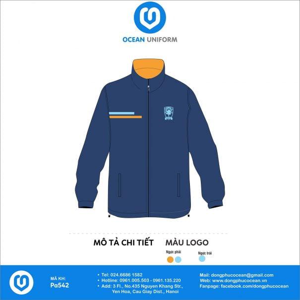 Đồng phục áo gió 2 lớp PA542