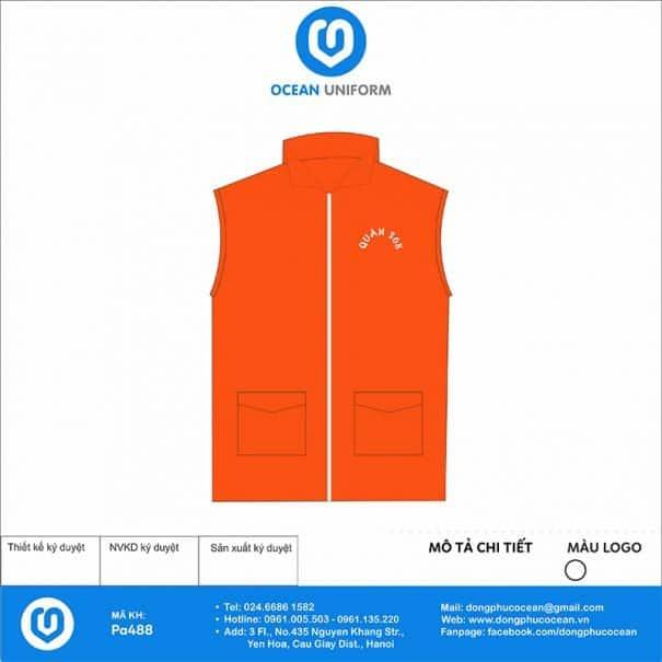 Đồng phục áo khoác Gile PA488