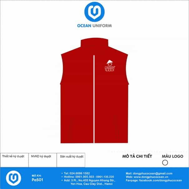 Đồng phục áo khoác Gile PA501
