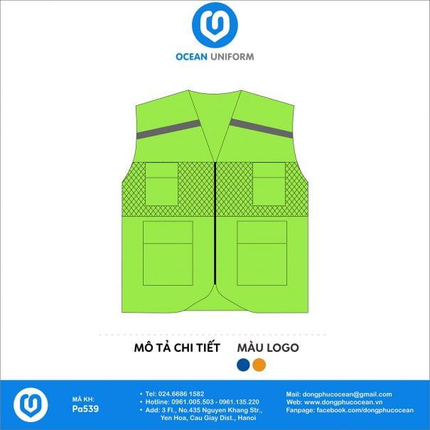 Đồng phục áo khoác gile PA539