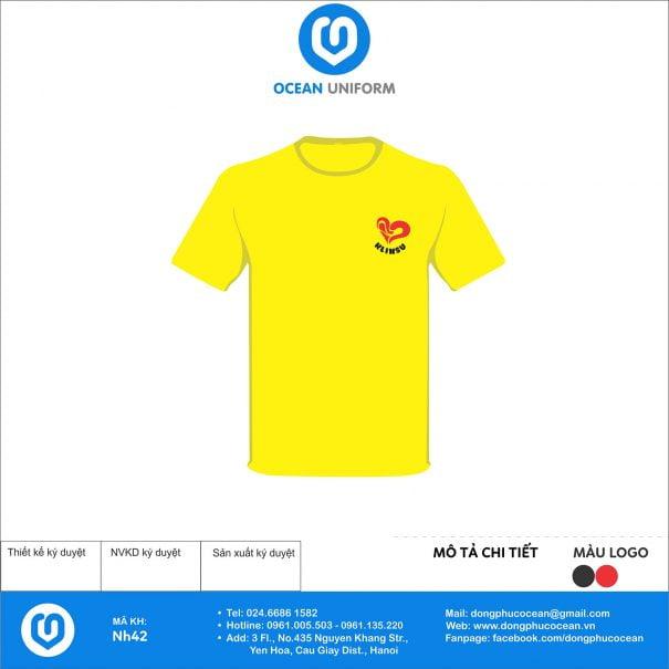 Áo nhóm Klinsu màu vàng