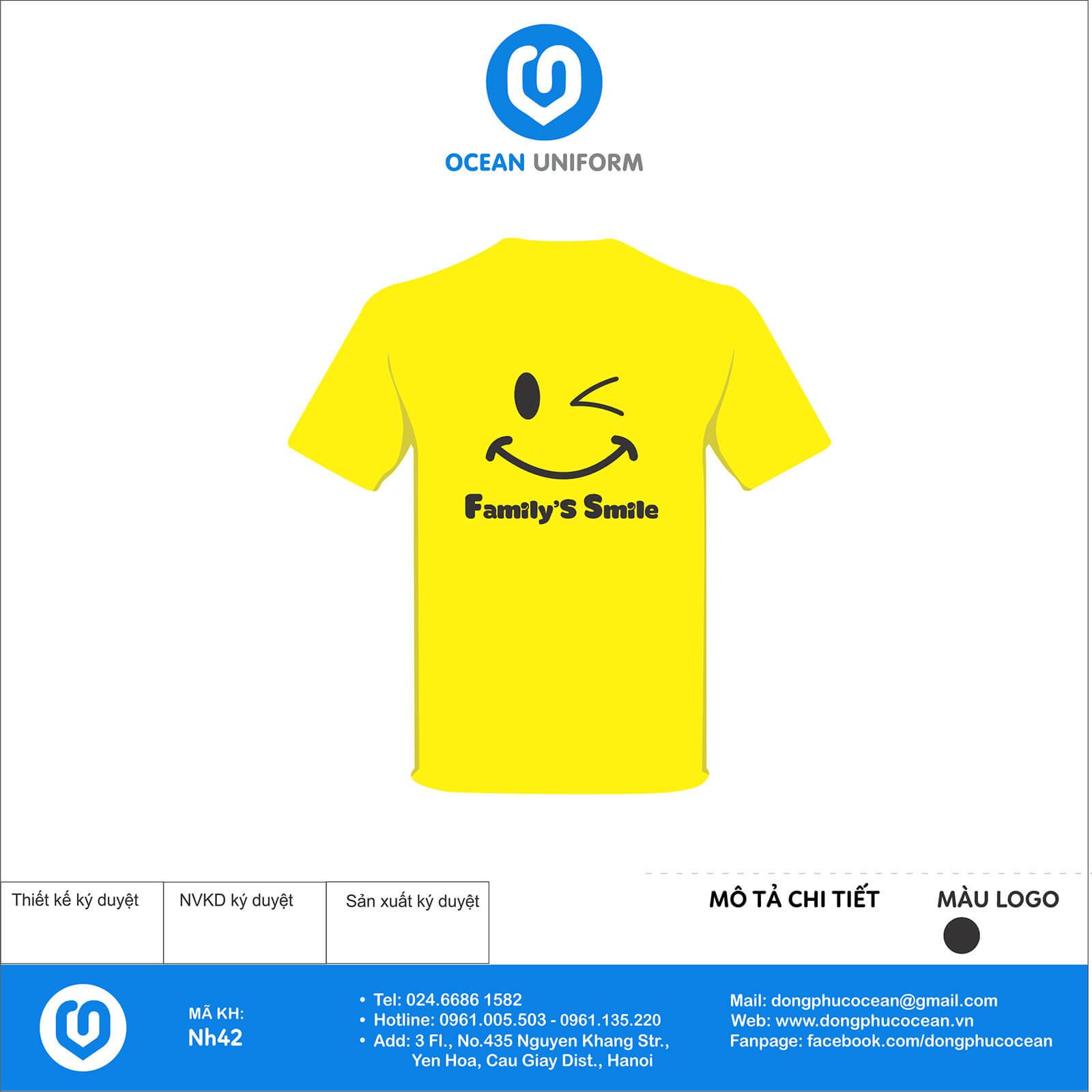 Áo nhóm Klinsu màu vàng mặt sau
