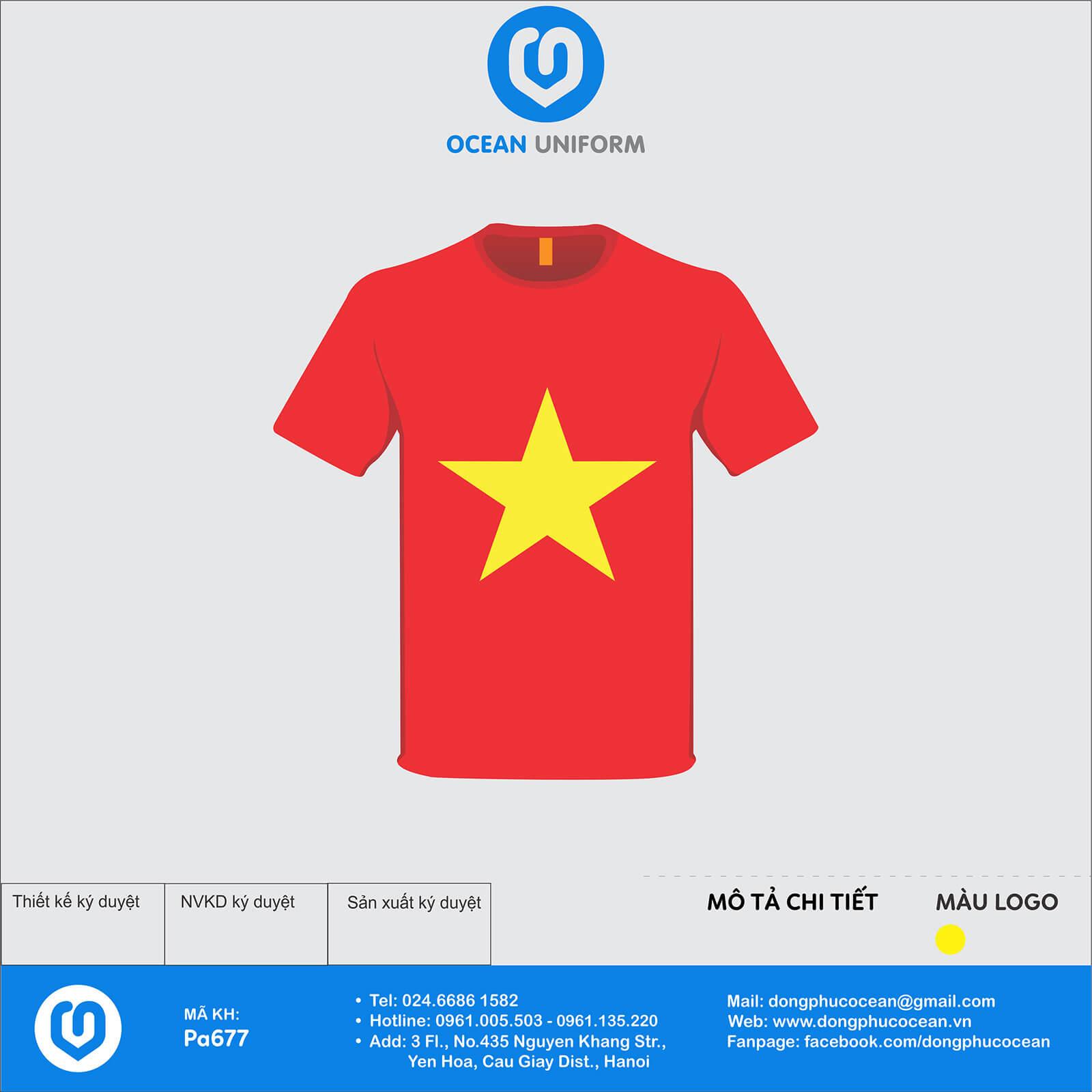 Áo cờ đỏ sao vàng Đảo Thanh Niên Bạch Long Vỹ