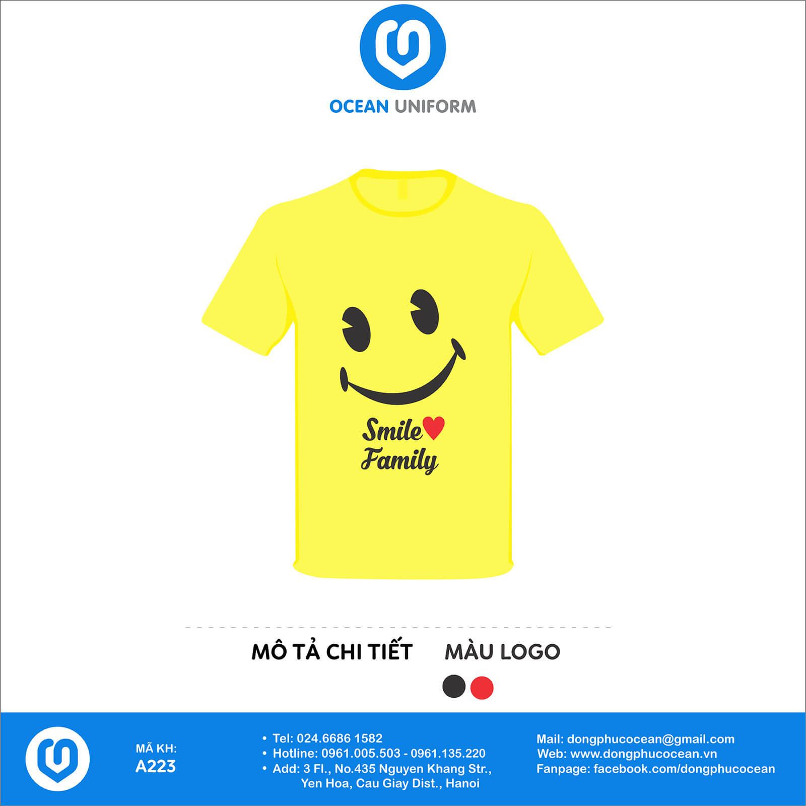 Áo nhóm gia đình màu vàng