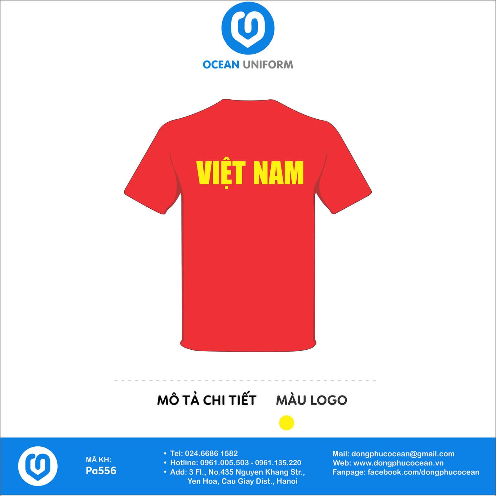 Áo cờ đỏ sao vàng Việt Nam mặt sau