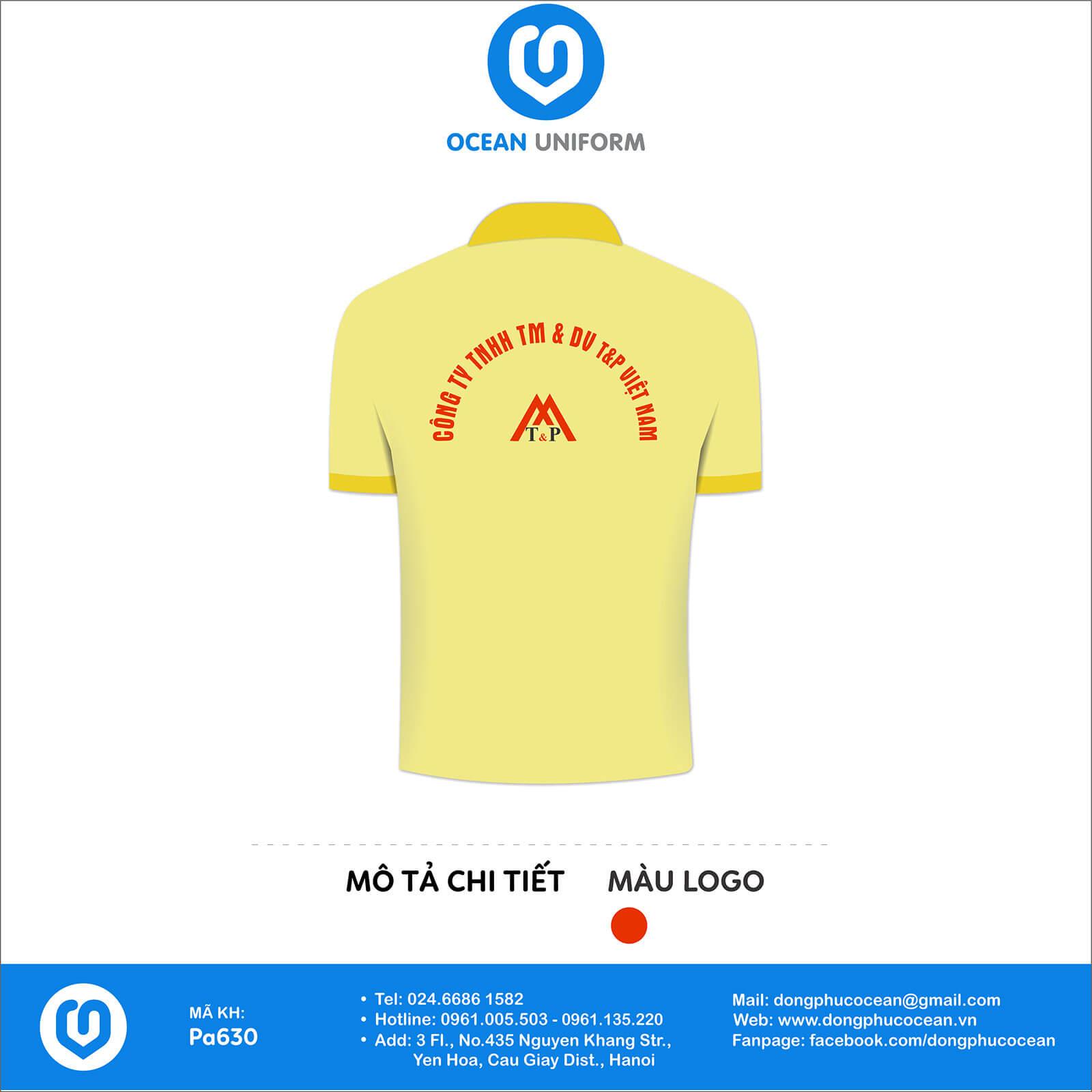 Đồng phục nhân viên Công ty TNHH T&P Việt Nam mặt sau