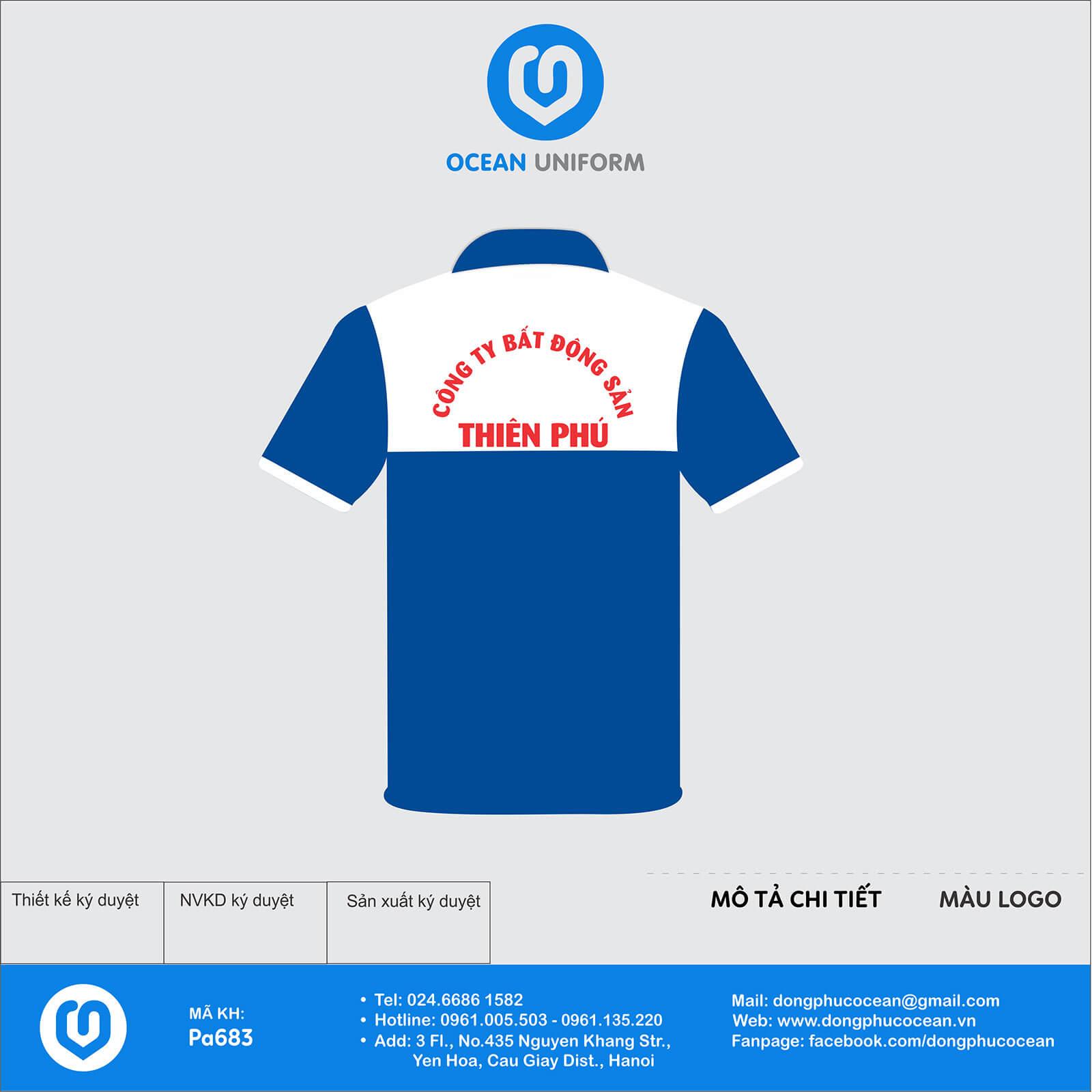 Đồng phục nhân viên Công ty Bất động sản Thiên Phú mặt sau