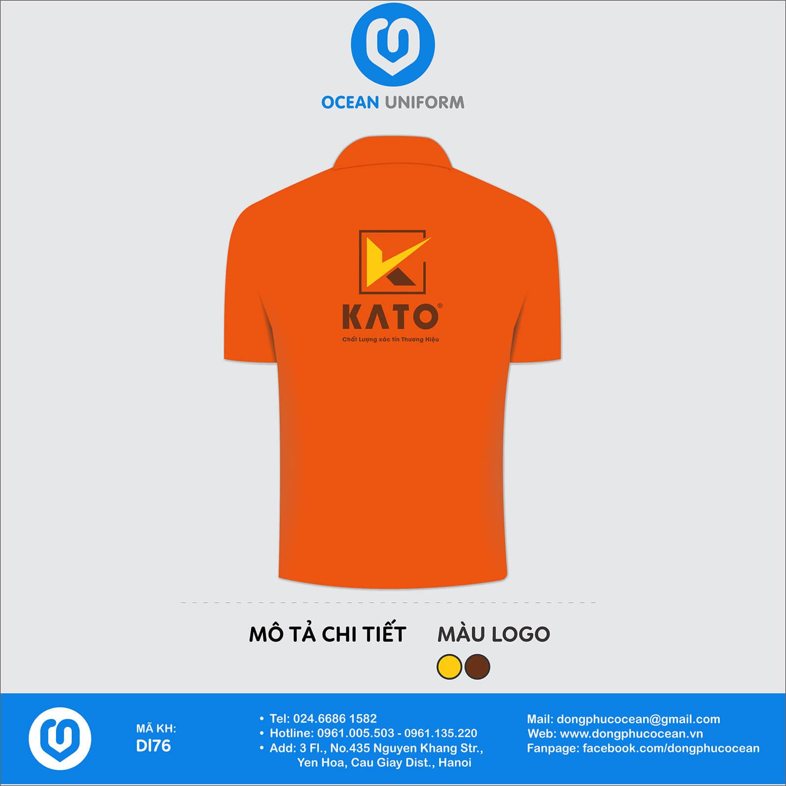 Đồng phục nhân viên công ty CP kính Kato Việt Nam mặt sau
