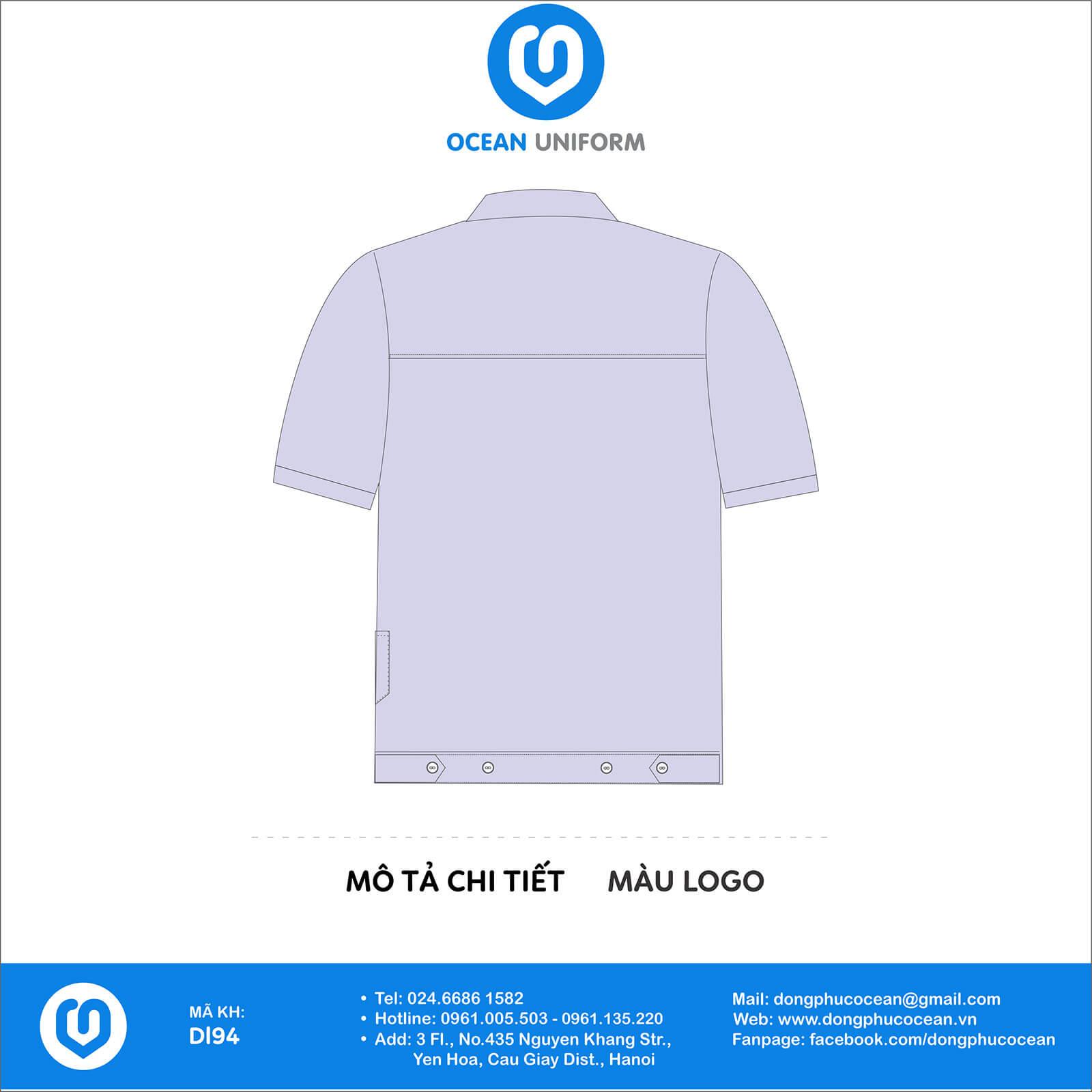 Đồng phục công nhân Cty Dream Corporation VN mặt sau