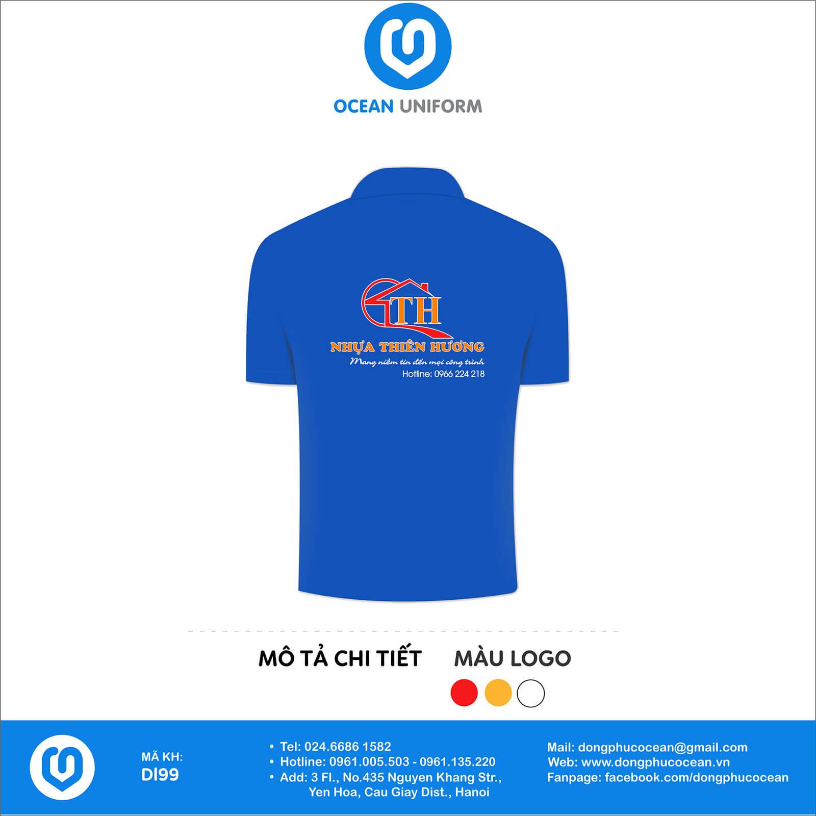Đồng phục văn phòng Công ty nhựa Thiên Hương mặt sau