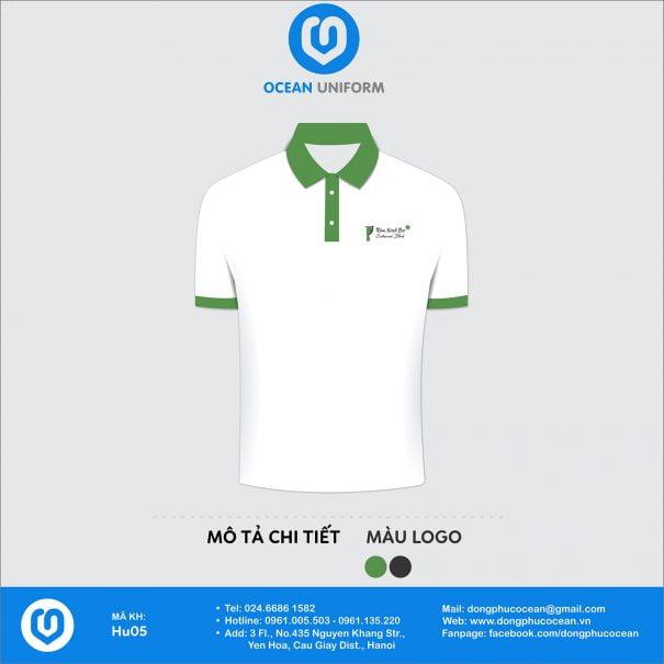 Đồng phục áo phông nhân viên HU05