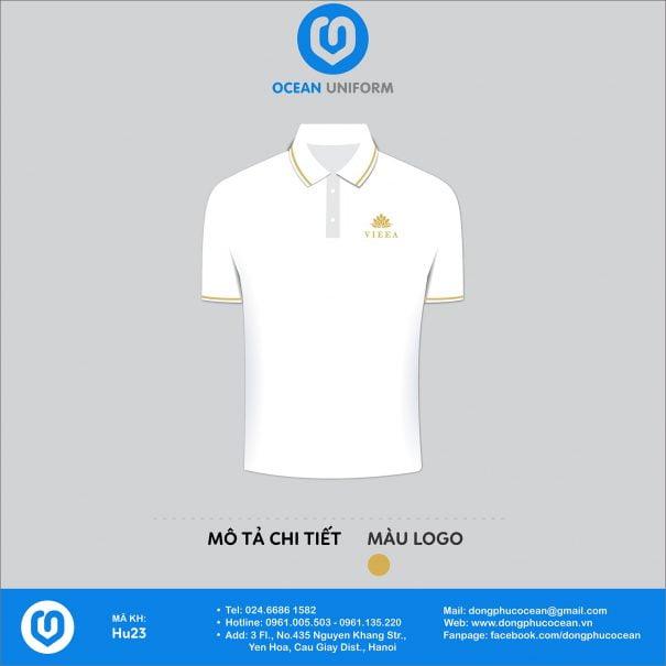 Đồng phục áo phông nhân viên HU23