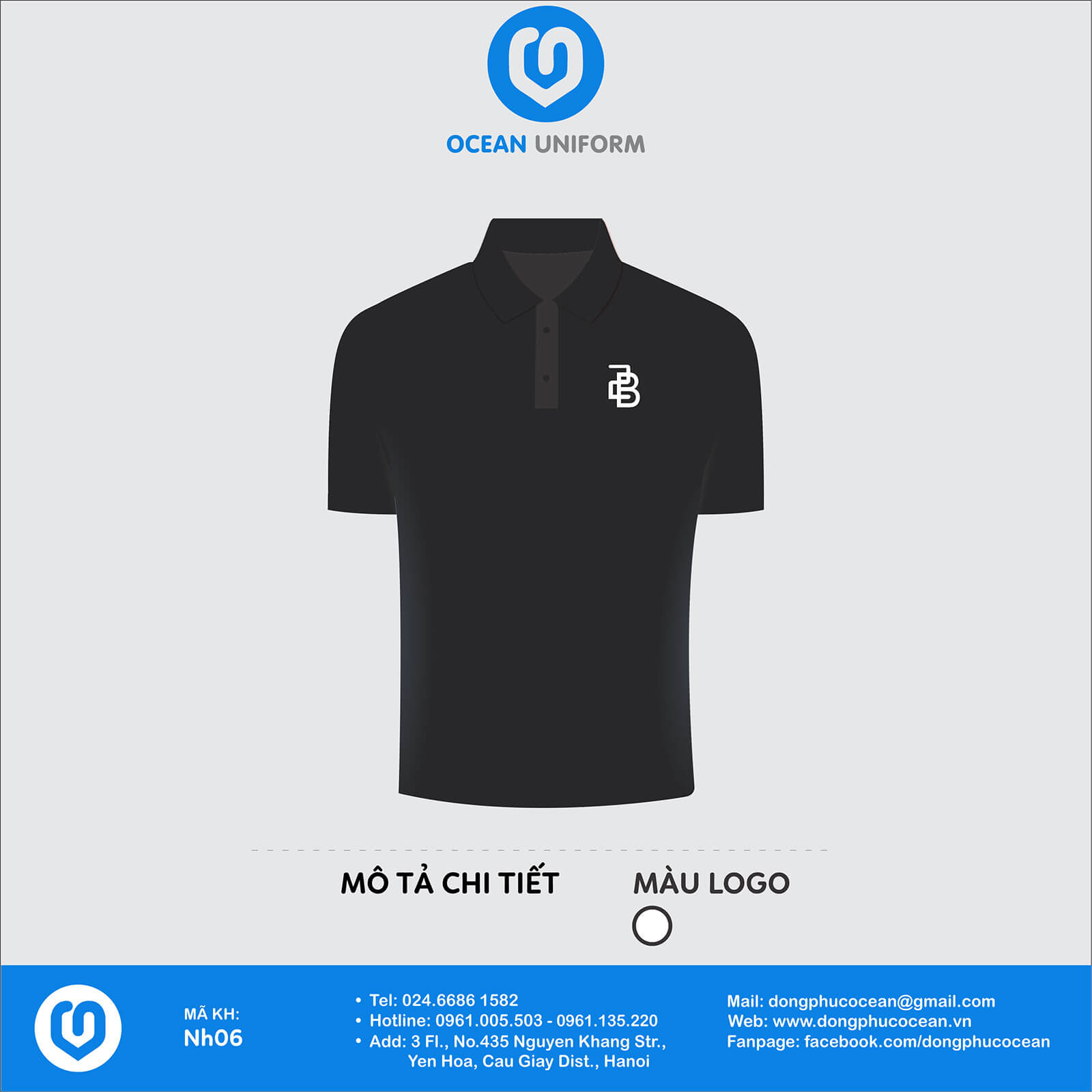 Áo đồng phục công ty Nội Thất 2B Collection