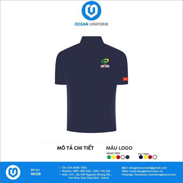 Đồng phục áo phông nhân viên NH08