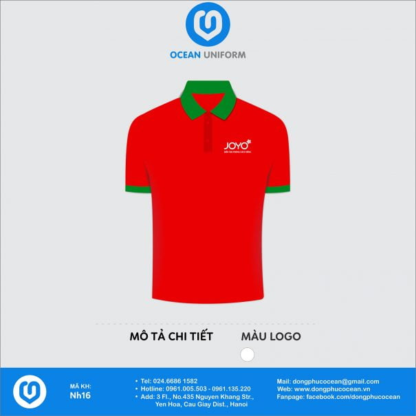 Đồng phục áo phông nhân viên NH16