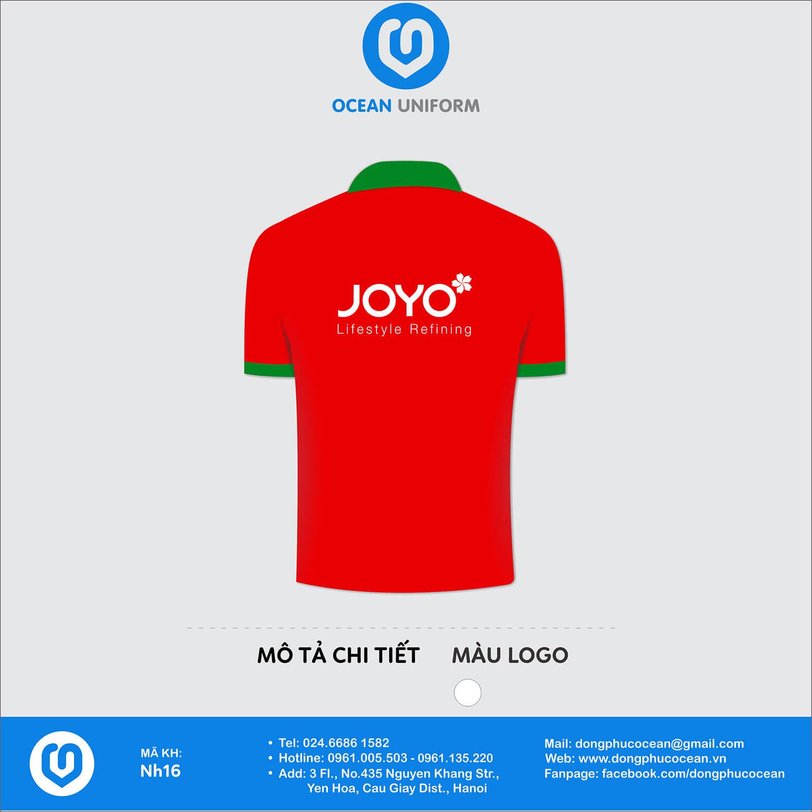 Áo đồng phục công ty Jojo mặt sau