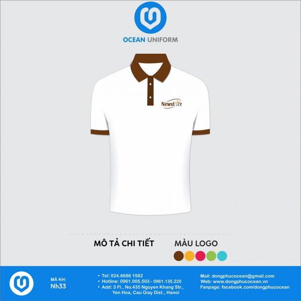 Đồng phục áo phông nhân viên NH33