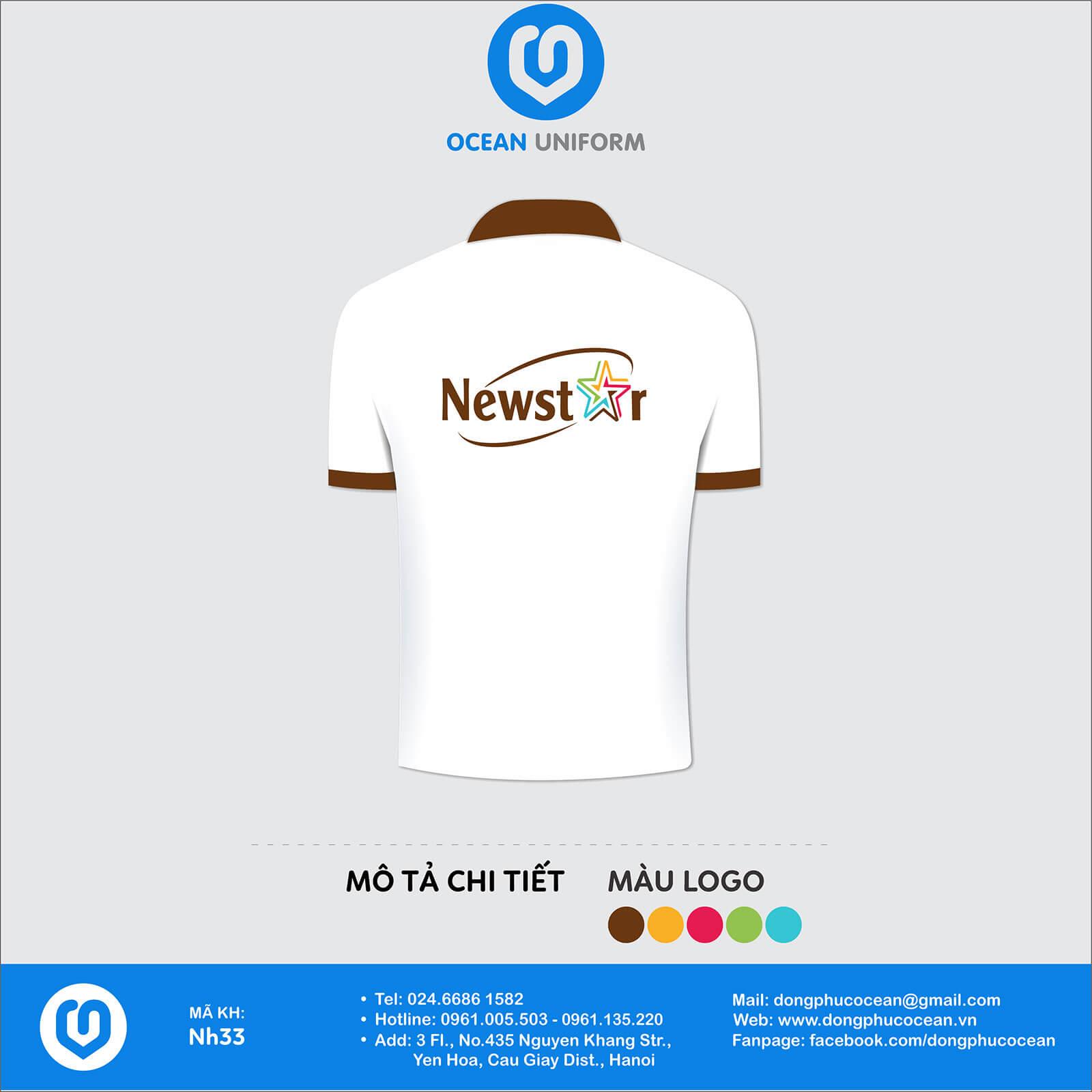 Áo đồng phục Công ty đầu tư và phát triển Newstar mặt sau