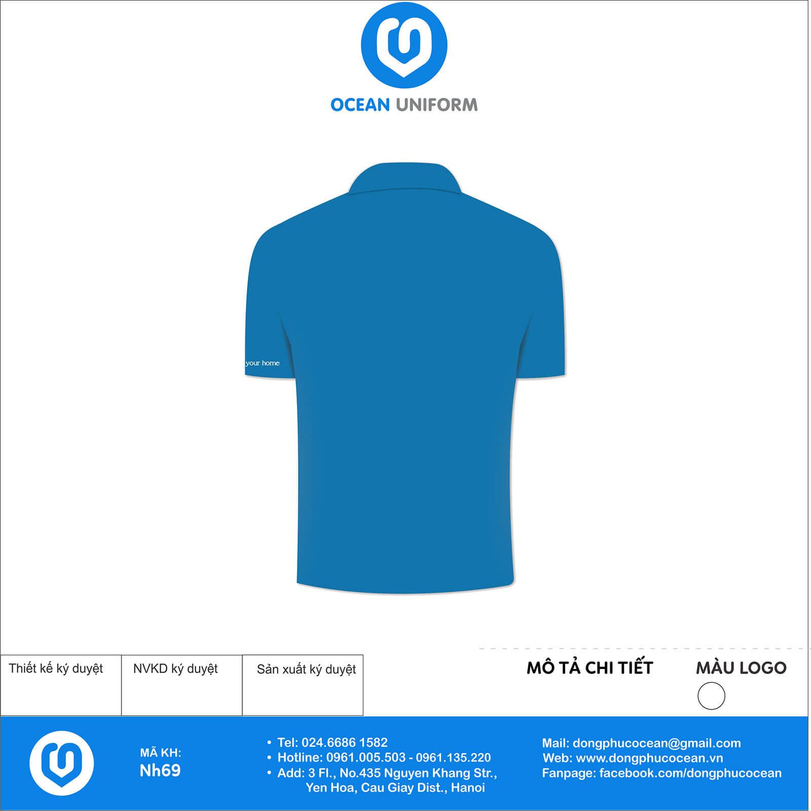 Áo đồng phục công ty nội thất NDesign mặt sau