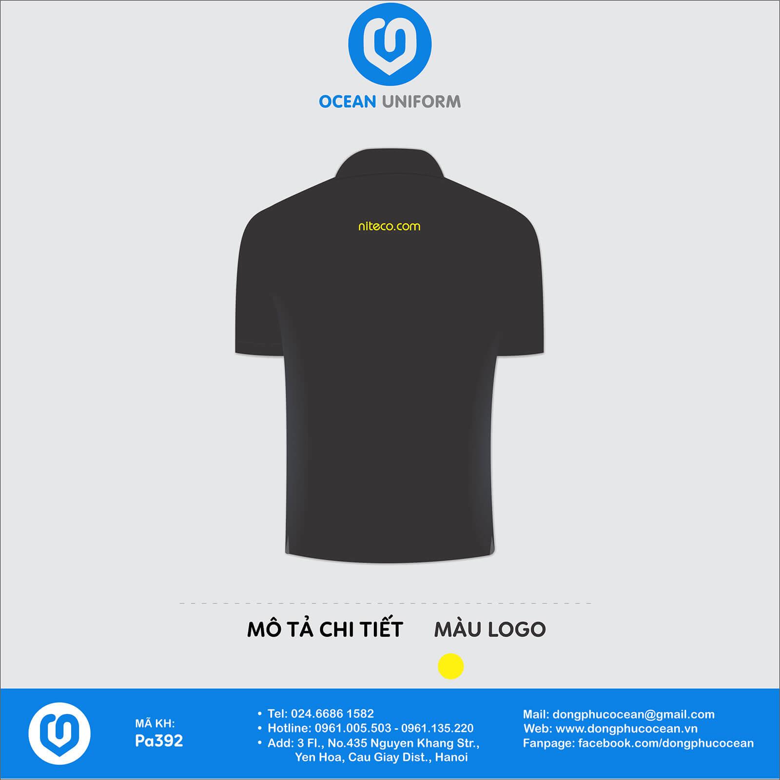 Áo đồng phục nhân viên Công ty NITECO Việt Nam mặt sau