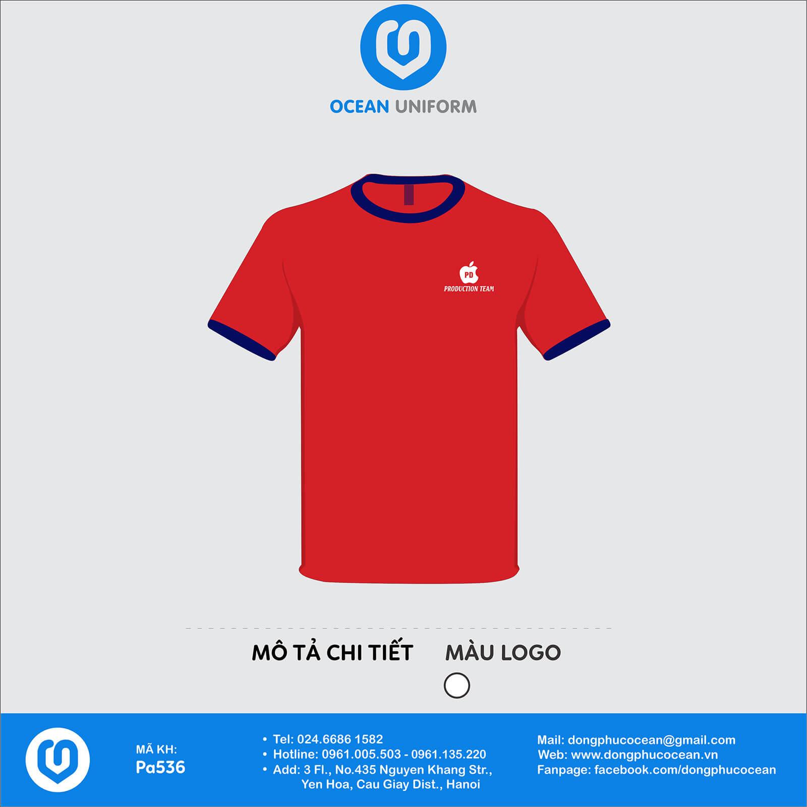 Đồng phục áo phông nhân viên PA536