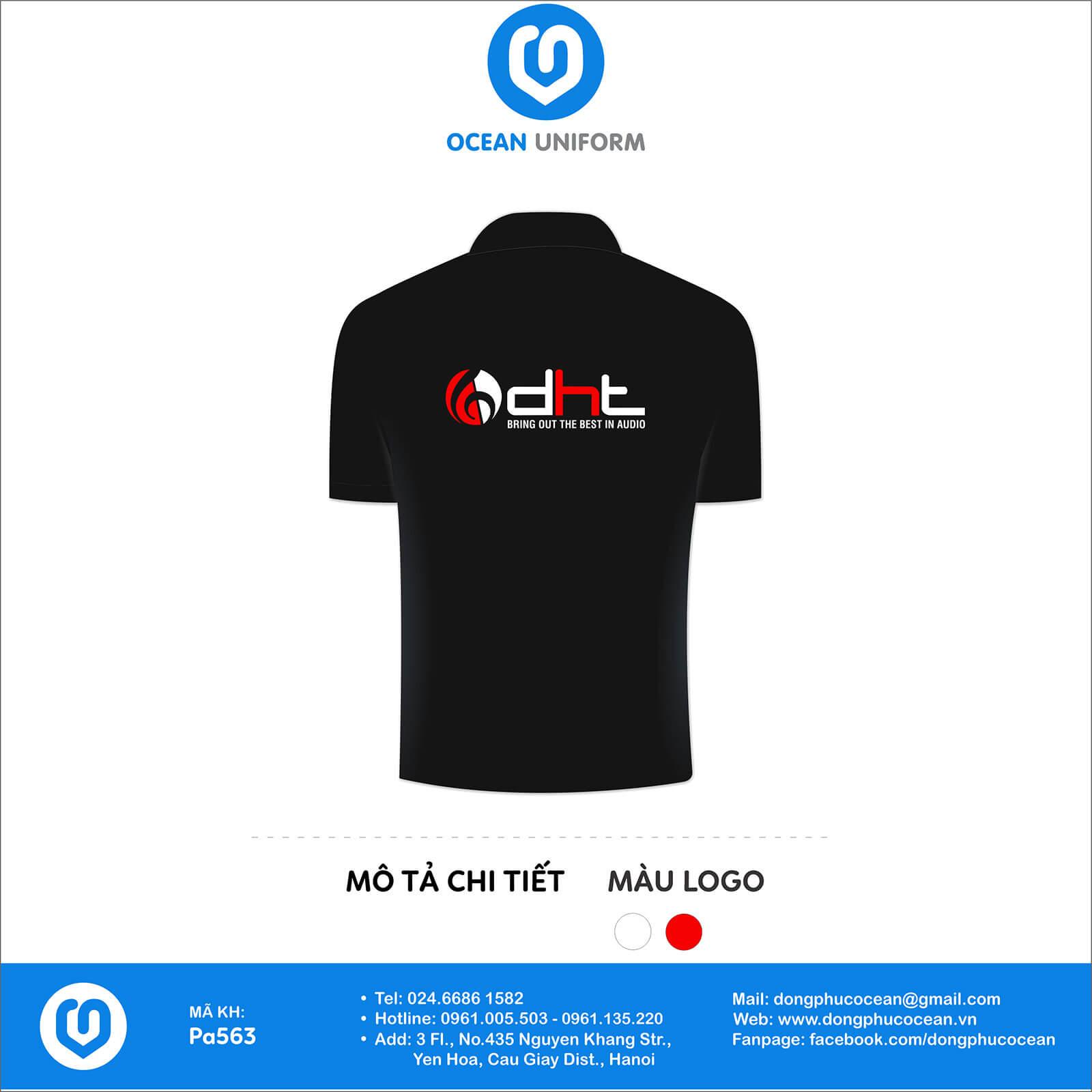 Áo đồng phục văn phòng công ty DHT Việt Nam mặt sau