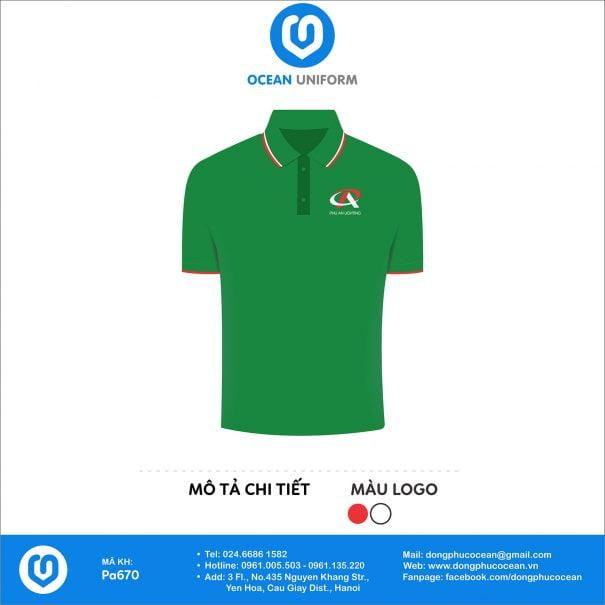 Đồng phục áo phông nhân viên PA670