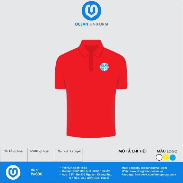 Đồng phục áo phông nhân viên PA686