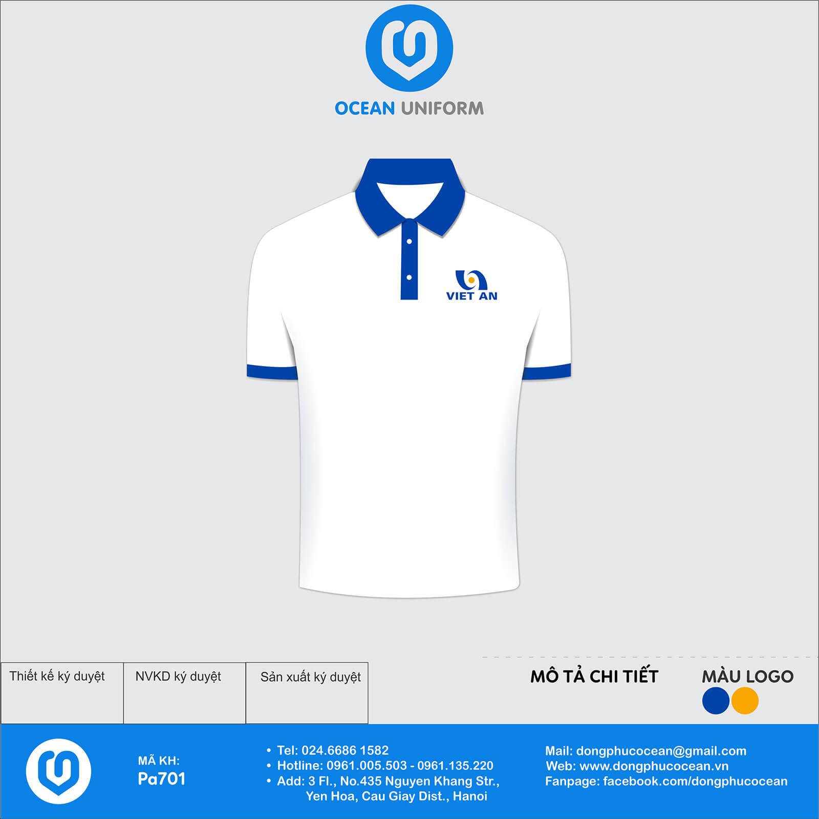 Áo đồng phục công ty Việt An