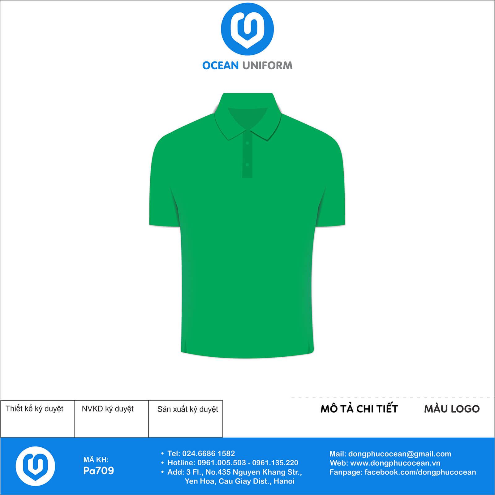 Áo đồng phục Công ty TNHH Thực Phẩm Hoàng Yến