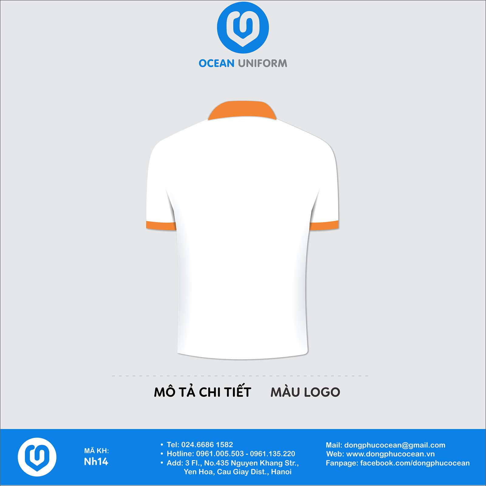 Đồng phục áo phông quảng cáo, sự kiện NH14 mặt sau