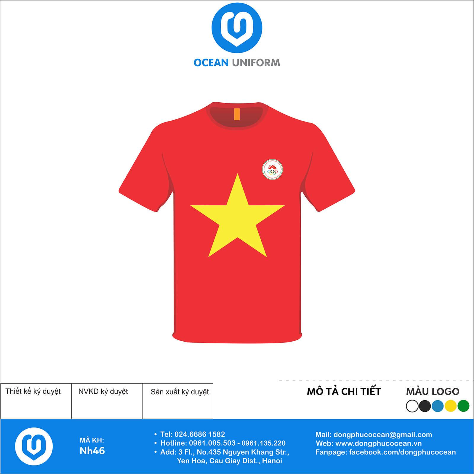 Áo cờ đỏ sao vàng CLB Khánh Thủy