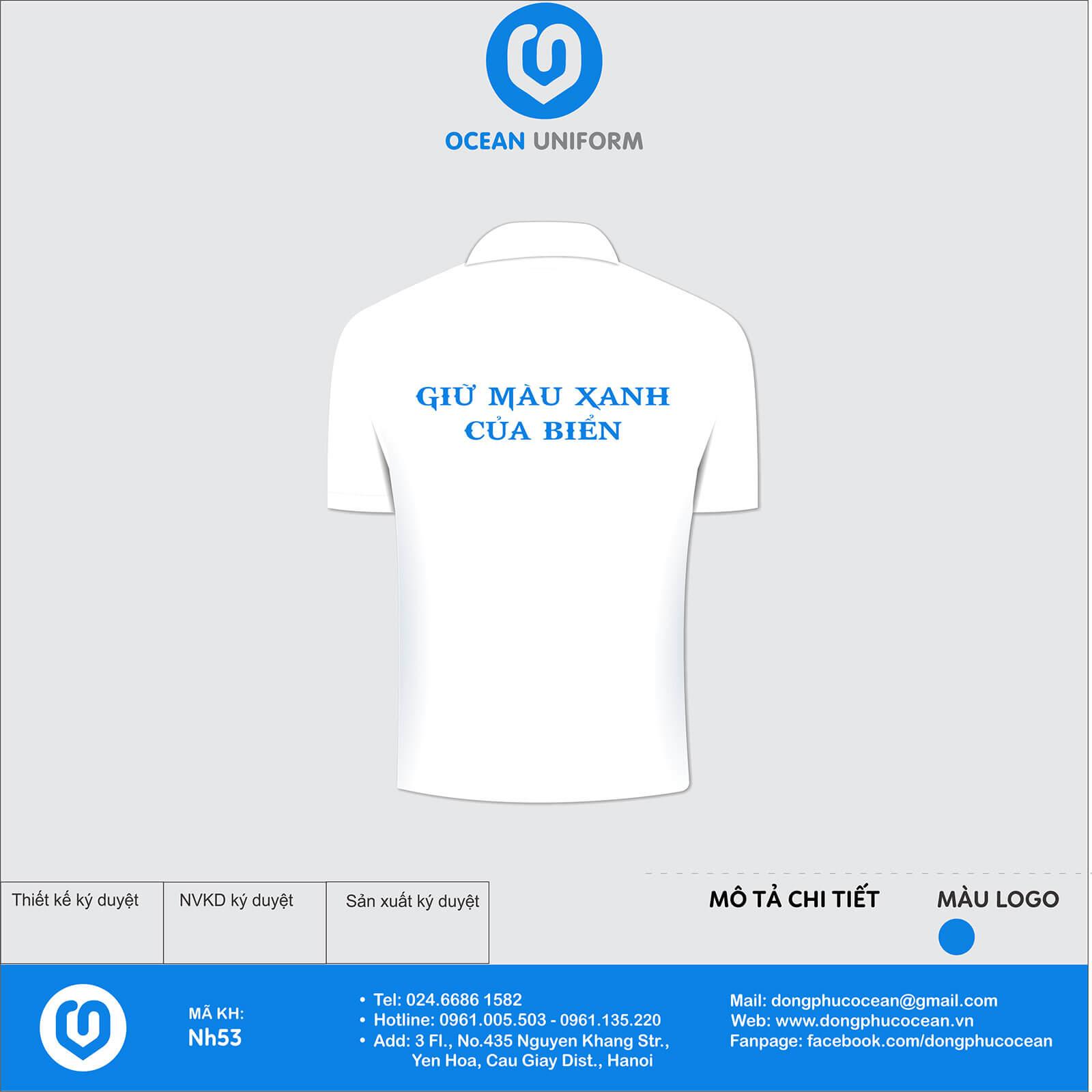 Đồng phục áo phông quảng cáo, sự kiện NH53 mặt sau
