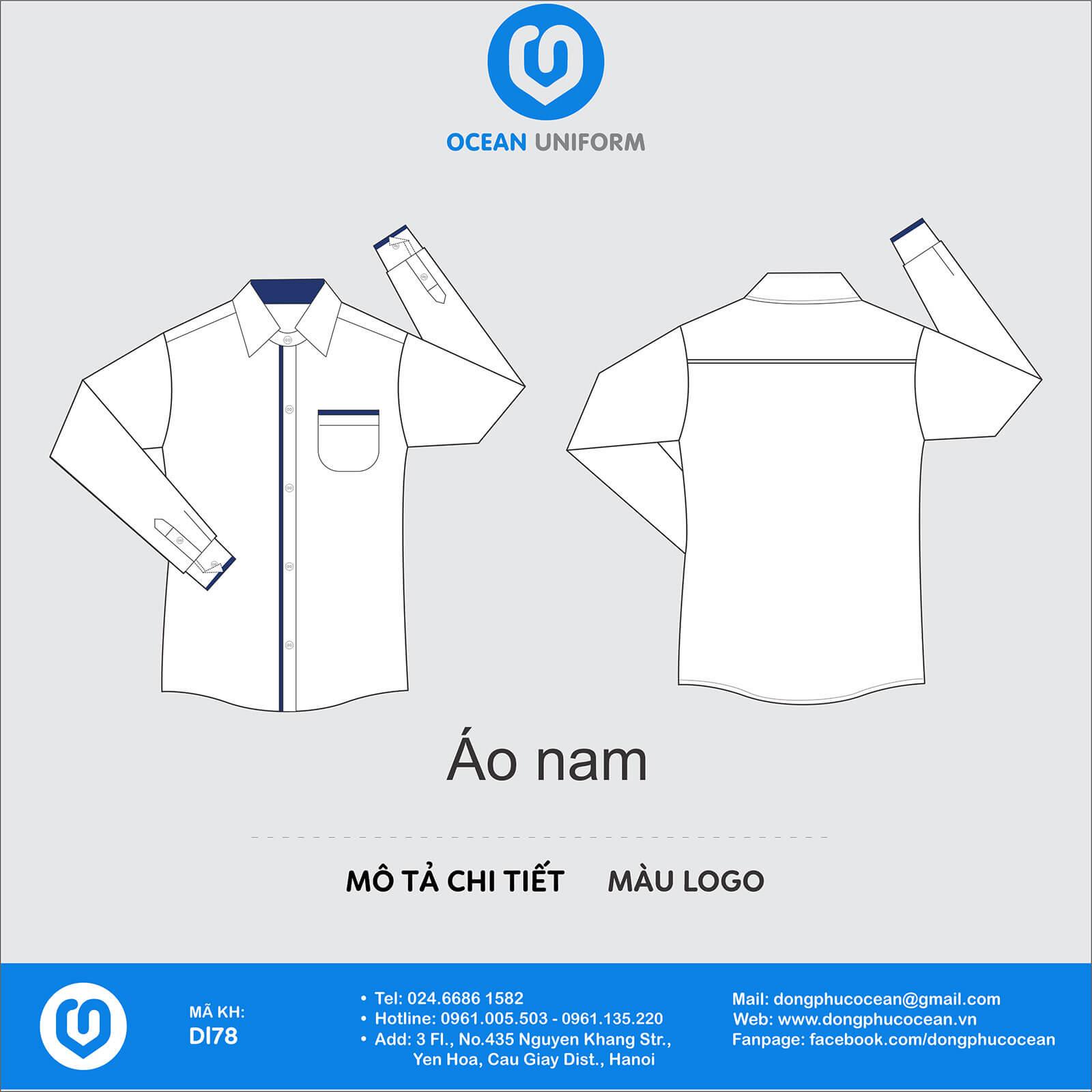 Đồng phục áo sơ mi DL78 nam