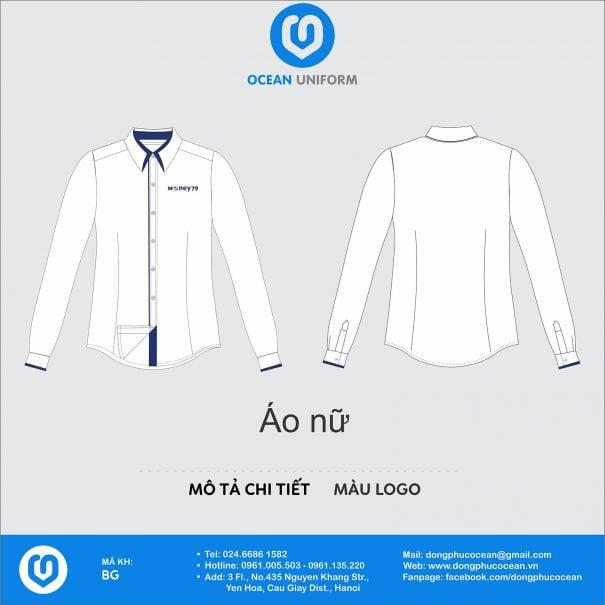 Đồng phục áo sơ mi DL78 nữ
