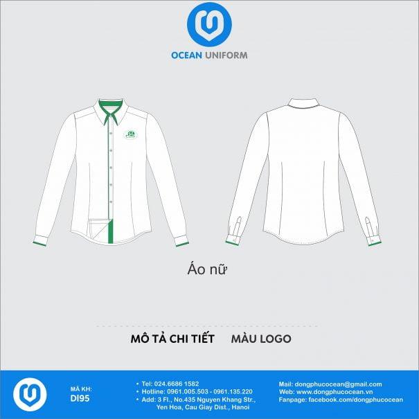 Đồng phục áo sơ mi DL95 nữ