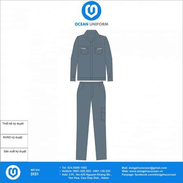 Đồng phục bảo hộ lao động DL31