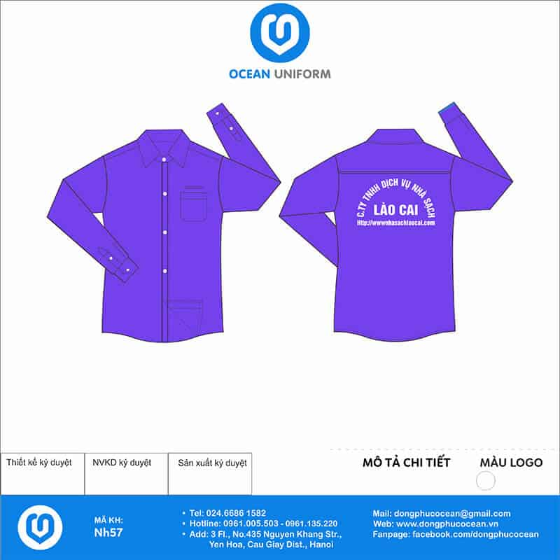 Đồng phục công nhân Cty TNHH DV Nhà Sạch Lào Cai