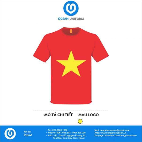 Áo cờ đỏ sao vàng ZinZa 2018