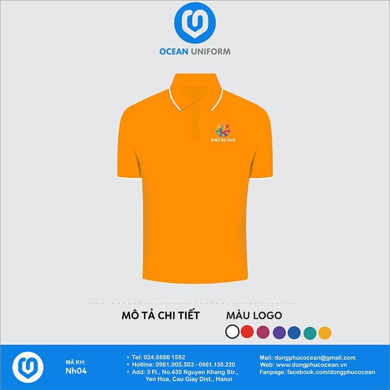 Áo đồng phục lớp 3D cổ bẻ 93k3 Hà Nam