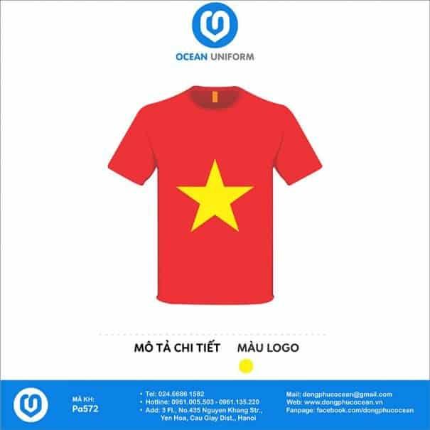 Áo cờ đỏ sao vàng trường Mầm non Kim Lộc