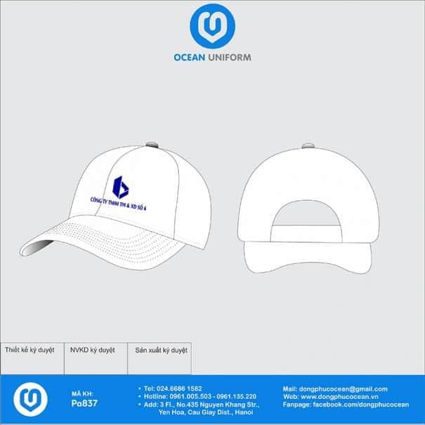 Mũ đồng phục PA837