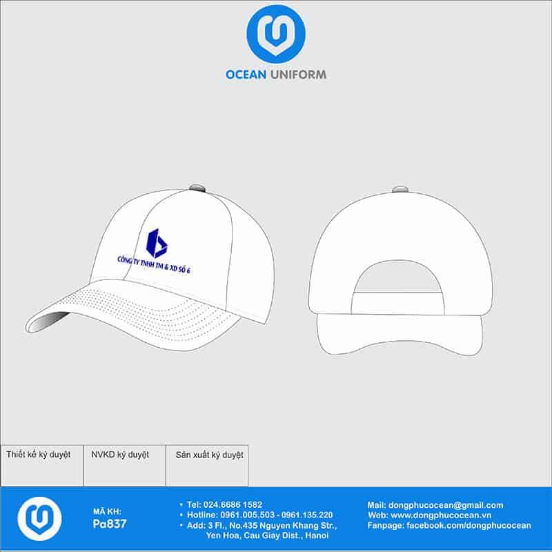 Mũ đồng phục Công ty TNHH TM&XD số 6